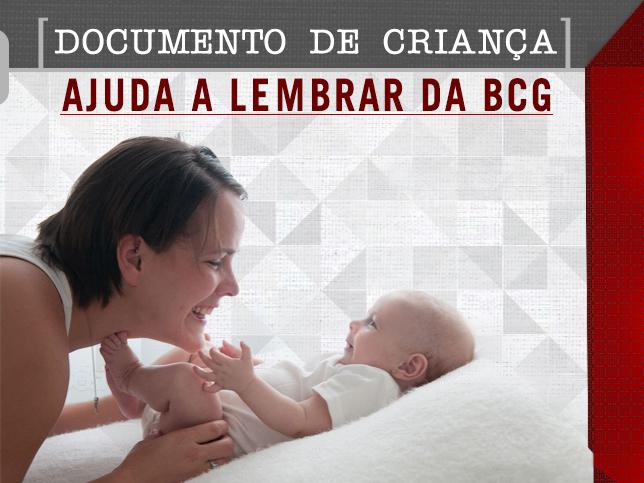 DOCUMENTO DE CRIANÇA AJUDA A LEMBRAR DA BCG
